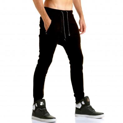 Pantaloni baggy bărbați Jack Berry negri it110915-29 4