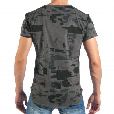 Tricou de bărbați colorat în gri închis it260318-190 3