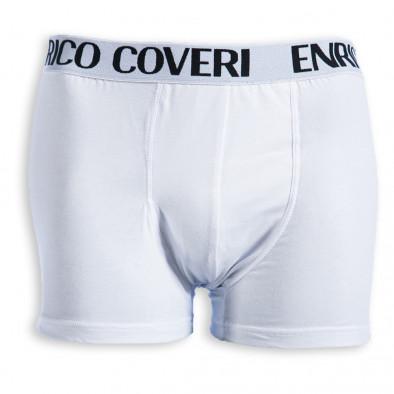 Boxeri bărbați Enrico Coveri albi EC/8013 2