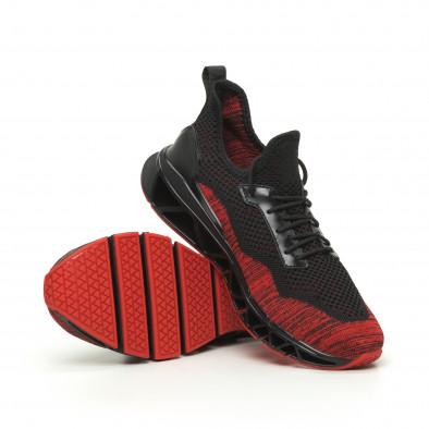 Adidași în negru și roșu Knife pentru bărbați it050719-3 4