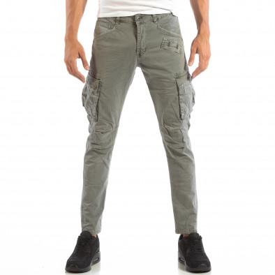 Pantaloni cargo gri pentru bărbați  it240818-2 3