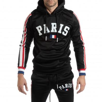 Hanorac pentru bărbați Paris în negru it261018-68 2