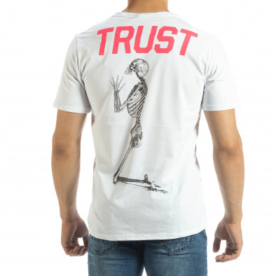 Tricou de bărbați alb Pray Trust it120619-41 3