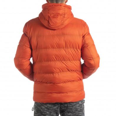 Geacă de bărbați cu puf în portocaliu it051218-69 5