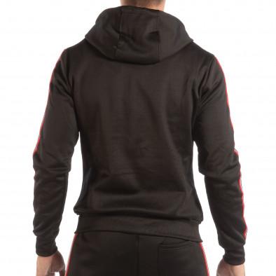 Hanorac negru pentru bărbați cu banda în 3 culori it240818-112 3