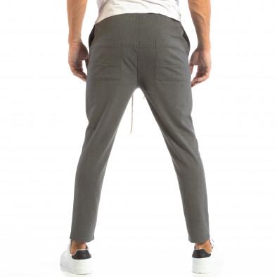 Pantaloni tip Jogger ușori în gri închis pentru bărbați it240818-66 3