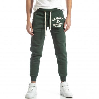 Pantaloni sport matlasați verzi U.S.Navy pentru bărbați it051218-32 3
