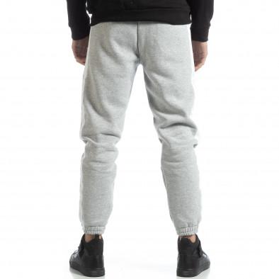 Pantaloni de trening din bumbac în gri deschis British pentru bărbați it051218-21 4