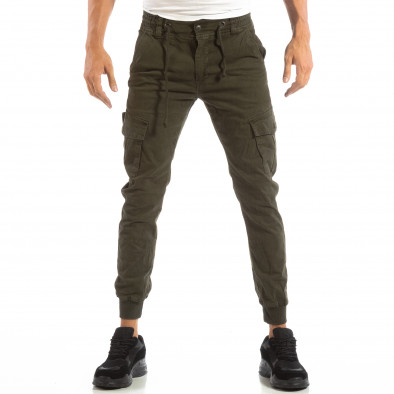 Cargo Jogger verde pentru bărbați cu șiret în talie it240818-9 3