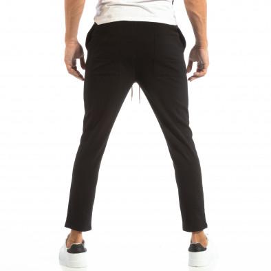 Pantaloni tip Jogger ușori în negru pentru bărbați it240818-67 3