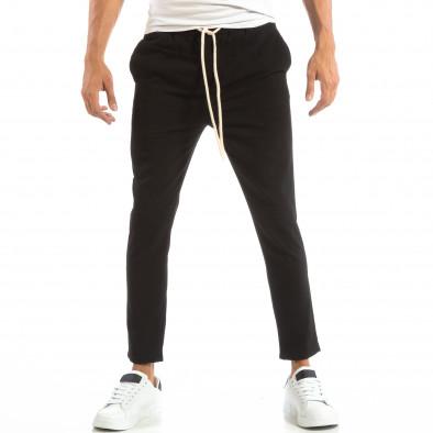 Pantaloni tip Jogger ușori în negru pentru bărbați it240818-67 2