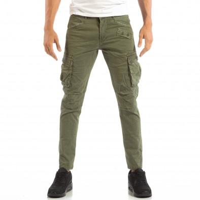 Pantaloni cargo verzi pentru bărbați  it240818-1 3