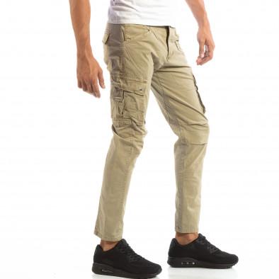 Pantaloni cargo bej pentru bărbați  it240818-3 2