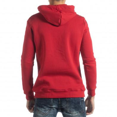 Hanorac roșu matlasat ICONS pentru bărbați it051218-48 4