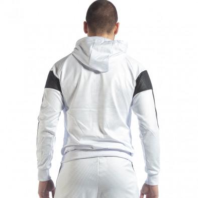 Hanorac pentru bărbați alb cu negru it040219-114 3