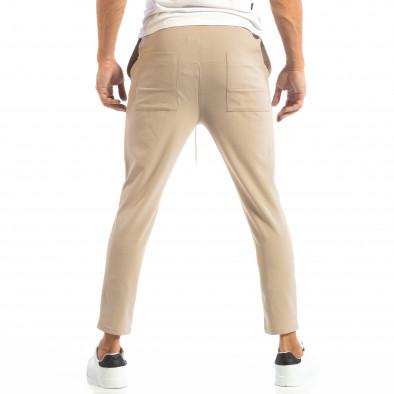 Pantaloni tip Jogger ușori în gri-bej pentru bărbați it240818-65 3