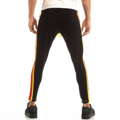 Jogger pentru bărbați în galben și negru cu benzi și fermoare it240818-98 5