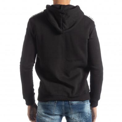 Hanorac negru matlasat ICONS pentru bărbați it051218-49 3