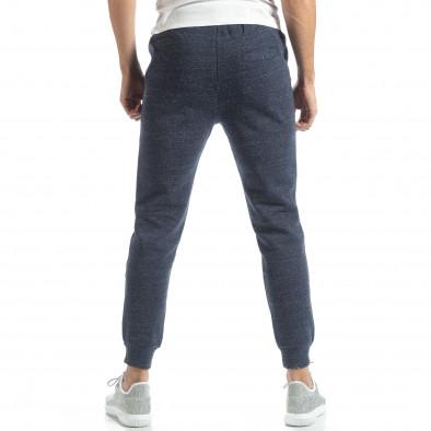 Pantaloni de trening pentru bărbați basic în melanj albastru  it051218-18 3