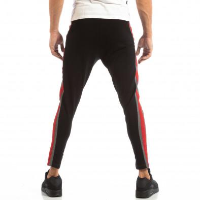 Jogger pentru bărbați în gri și negru cu banda roșie it240818-100 4