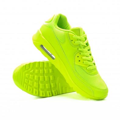 Adidași pentru bărbați în verde neon cu perna de aer it301118-1 4