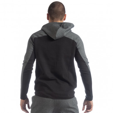 Hanorac în negru și gri pentru bărbați it040219-80 3