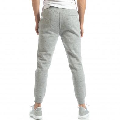 Pantaloni de trening pentru bărbați basic în melanj gri it051218-16 3