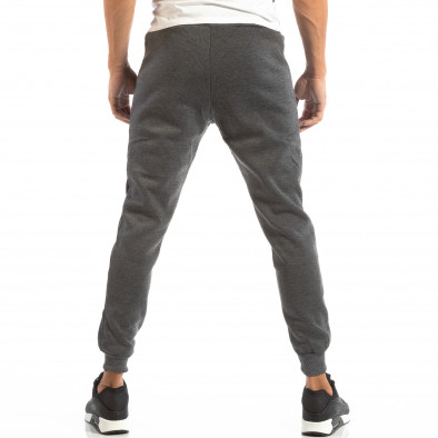 Pantaloni sport gri matlasate pentru bărbați NYC it240818-96 3