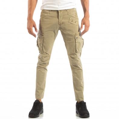 Pantaloni cargo bej pentru bărbați  it240818-3 3