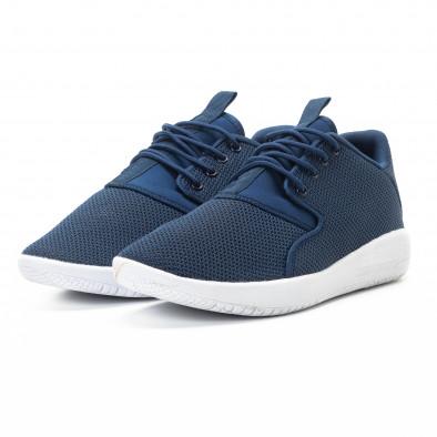 Adidași pentru bărbați din țesătură albastră model ușor it301118-2 3