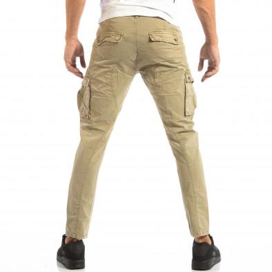 Pantaloni cargo bej pentru bărbați  it240818-3 4