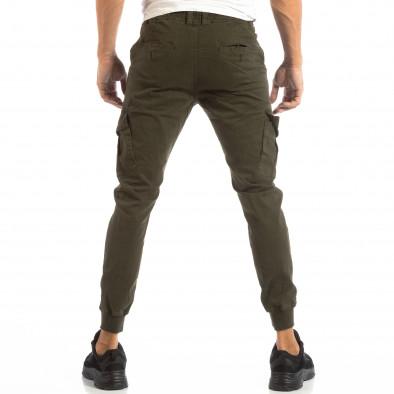 Cargo Jogger verde pentru bărbați cu șiret în talie it240818-9 4