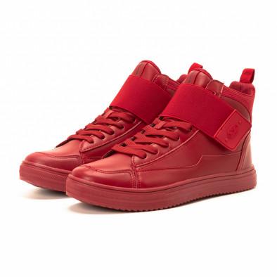 Teniși înalți roșii cu șireturi pentru bărbați it140918-7 3