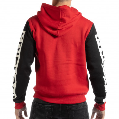 Hanorac gros pentru bărbați în roșu și negru it261018-89 3