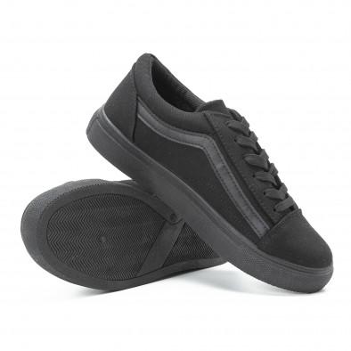 Teniși tip Old Skool de dama All black din pânză it140918-46 4