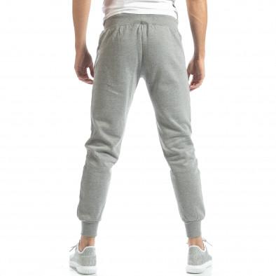 Pantaloni sport matlasați gri U.S.Navy pentru bărbați it051218-31 4