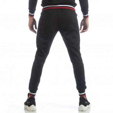 Pantaloni sport de bărbați negri cu accente it040219-60 3