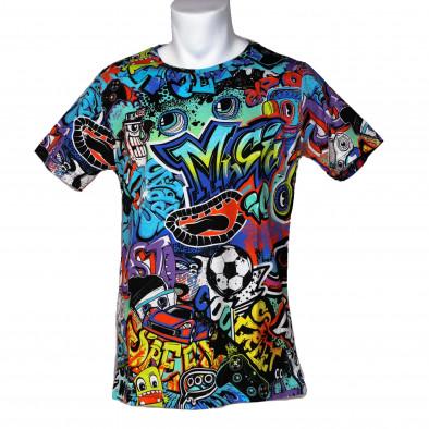 Tricou bărbați Made in Italy curcubeu it200421-6 3