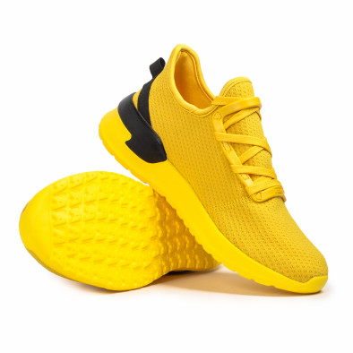 Adidași bărbați tip șosetă Lace detail galbene  it260620-12 4