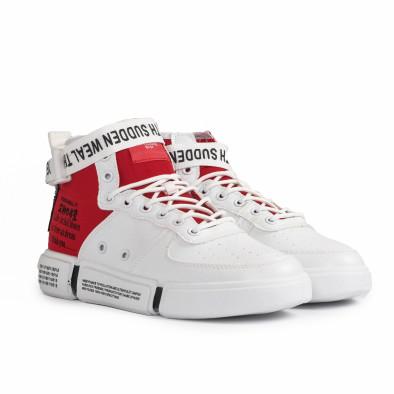 Teniși înalți bărbați Fashion albi gr020221-8 4