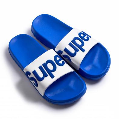 Papuci bărbați Super albaștri it260620-1 2