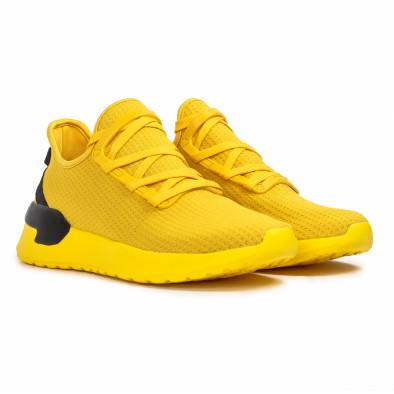 Adidași bărbați tip șosetă Lace detail galbene  it260620-12 3