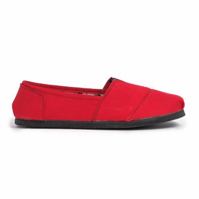 Espadrile bărbați Fashionmix roșii it020720-11 3