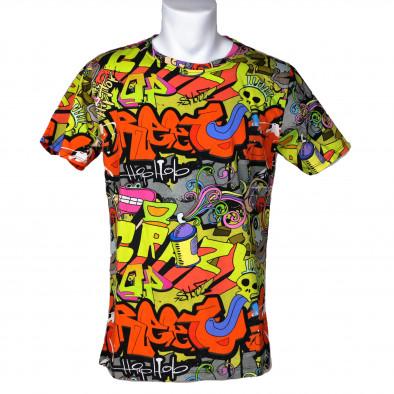 Tricou bărbați Made in Italy curcubeu it200421-10 3