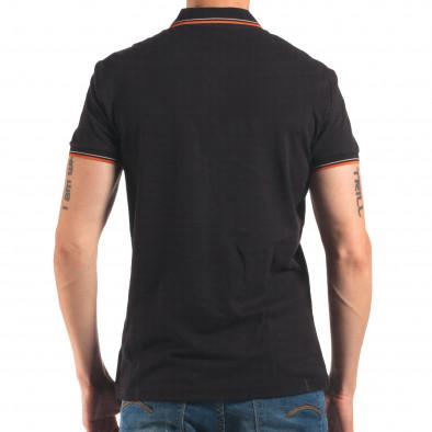 Tricou cu guler bărbați Bruno Leoni negru it150616-32 3