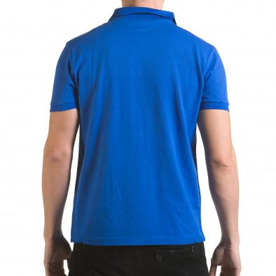 Tricou cu guler bărbați Franklin albastru il170216-35 3