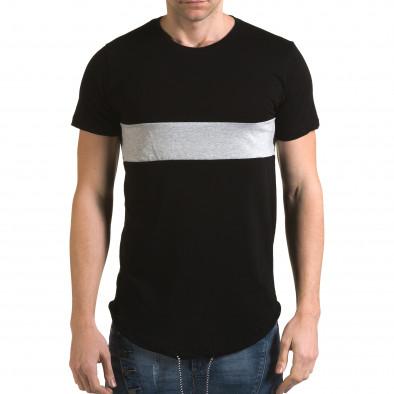 Tricou bărbați Man negru it090216-66 2