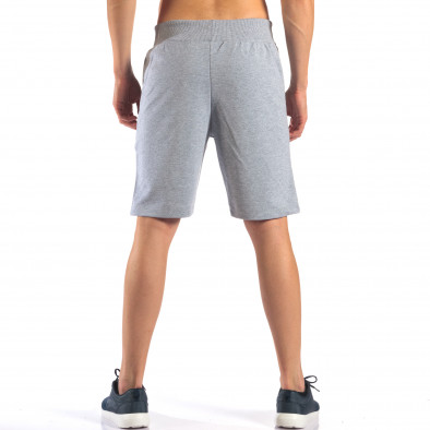 Pantaloni scurți bărbați Social Network gri it160616-8 3