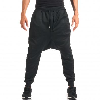 Pantaloni baggy bărbați Dontoki negri it160816-23 4