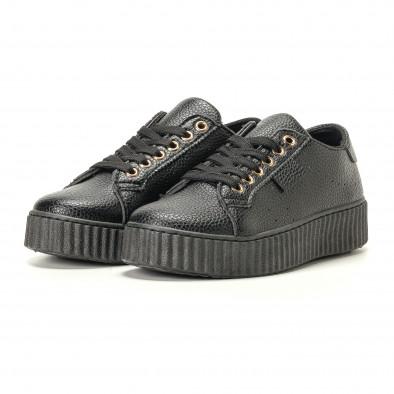 Teniși de dama Ideal Shoes neagră it200917-57 3